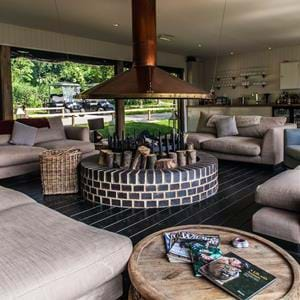 The Clubhouse bar at Treehouse Hotel, Port Lympne Reserve, Kent