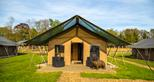 Overnight family glamping in Kent at Bear Lodge at Port Lympne Hotel & Reserve