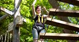 Treetop Challenge at Howletts Wild Animal Park in Kent
