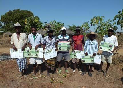Calendars and posters gifted to locals at The Aspinall Foundation's Madagascar project