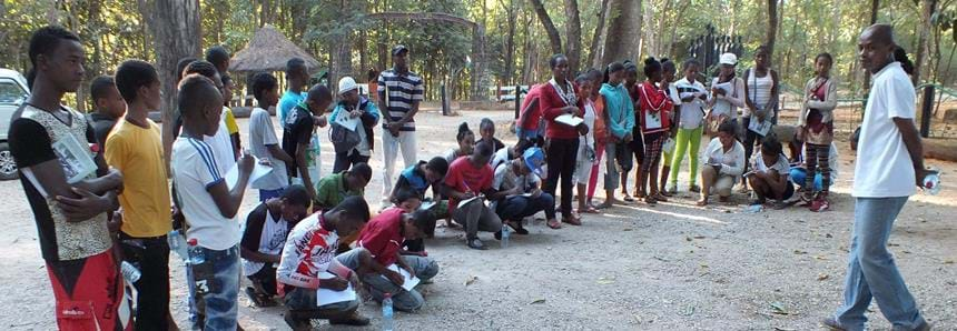 Local school children at The Aspinall Foundation's Madagascar project