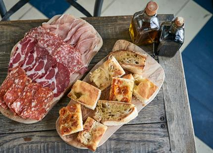 Antipasti at Babydoll's Wood Fired Pizza Restaurant at Port Lympne Hotel & Reserve