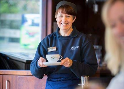 Fresh coffee served at the deer park cafe